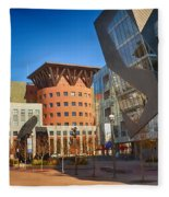 Denver Art Museum Courtyard Fleece Blanket
