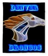 Denver Broncos 2 Fleece Blanket