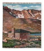 Denver Mountain Parks Antique Post Cards Fleece Blanket