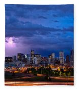 Denver Skyline Fleece Blanket