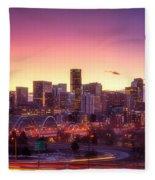 Denver Sunrise Fleece Blanket
