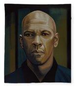 Denzel Washington In The Equalizer Painting Fleece Blanket