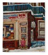 Depanneur Kik Cola Montreal Fleece Blanket