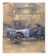 Departure For Christmas Oil On Canvas Fleece Blanket