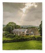 Derbyshire Cottages Fleece Blanket