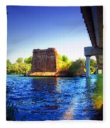 Deschutes Bridge  Anderson Ca  Watercolor   Fleece Blanket
