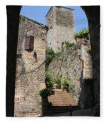 Desert Alley In San Gimignano Fleece Blanket
