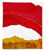Desert Arch Original Painting Sold Fleece Blanket