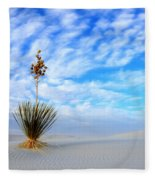 Desert Beauty White Sands New Mexico Fleece Blanket