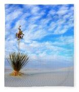 Desert Beauty White Sands New Mexico Fleece Blanket
