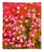 Desert Broom Abstract  Fleece Blanket