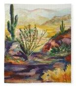 Desert Color Fleece Blanket