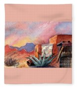 Desert Doorway Fleece Blanket