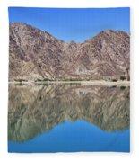 Desert Lake Stillness Fleece Blanket