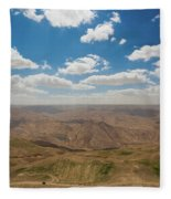 Desert Landscape By The Tannur Dam Fleece Blanket