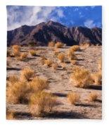 Desert Light And Shadow Fleece Blanket