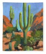 Desert Morning Saguaro Fleece Blanket