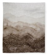 Desert Mountain Mist Original Painting Fleece Blanket
