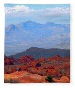 Desert Mountain Vista Fleece Blanket