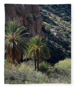 Desert Palms Fleece Blanket