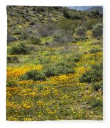 Desert Poppies Fleece Blanket