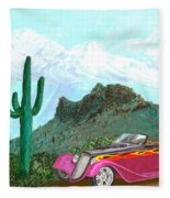 Desert Roadster 34 Ford Fleece Blanket