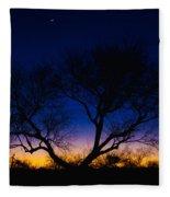 Desert Silhouette Fleece Blanket