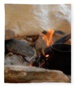 Desert Sinai Fireplace Egypt Fleece Blanket
