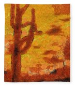 Desert Sunset Photo Art 04 Fleece Blanket