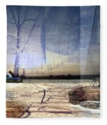 Desert Tracks Fleece Blanket