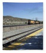 Desert Train Fleece Blanket