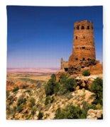 Desert View Watchtower Fleece Blanket
