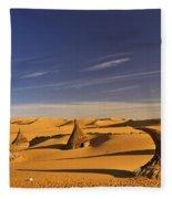 Desert Village Fleece Blanket