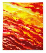 Desert Wind Abstract I Fleece Blanket