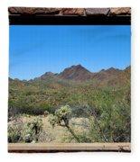 Desert Window Fleece Blanket