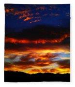 Desert Winter Sunset  Fleece Blanket