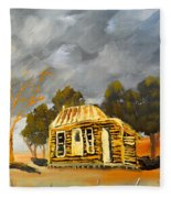 Deserted Castlemain Farmhouse Fleece Blanket