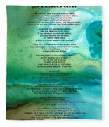 Desiderata 2 - Words Of Wisdom Fleece Blanket