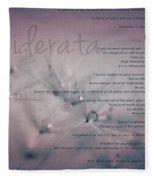 Desiderata - Dandelion Tears Fleece Blanket
