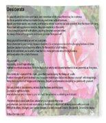 Desiderata On Garden Scene With Pink Roses Fleece Blanket