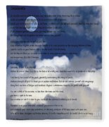 Desiderata On Sky Scene With Full Moon And Clouds Fleece Blanket