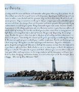 Desiderata Santa Cruz Lighthouse Fleece Blanket