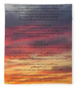 Desiderata Sky Fleece Blanket