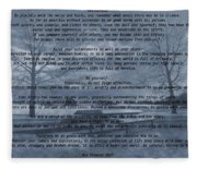 Desiderata Winter Scene Fleece Blanket