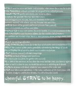 Desiderata 15 Fleece Blanket