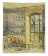 Design For A Bathroom, From Interieurs Fleece Blanket