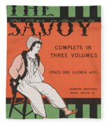 Design For The Front Cover Of 'the Savoy Complete In Three Volumes' Fleece Blanket