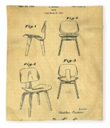 Designs For A Eames Chair Fleece Blanket
