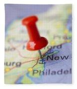 Destination To New York Fleece Blanket