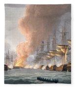Destruction Of The Danish Fleet Fleece Blanket